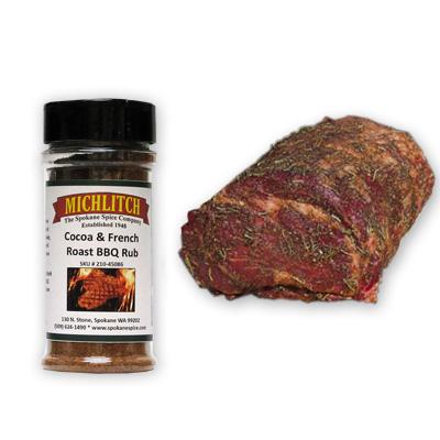 Dry Rub-Cocoa & French Roast BBQ Rub 1 oz LOW SALT
