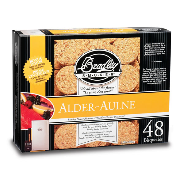 Bradley Alder Smoking Bisquettes 48