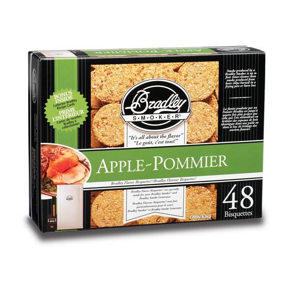 Bradley Apple Smoking Bisquettes 48