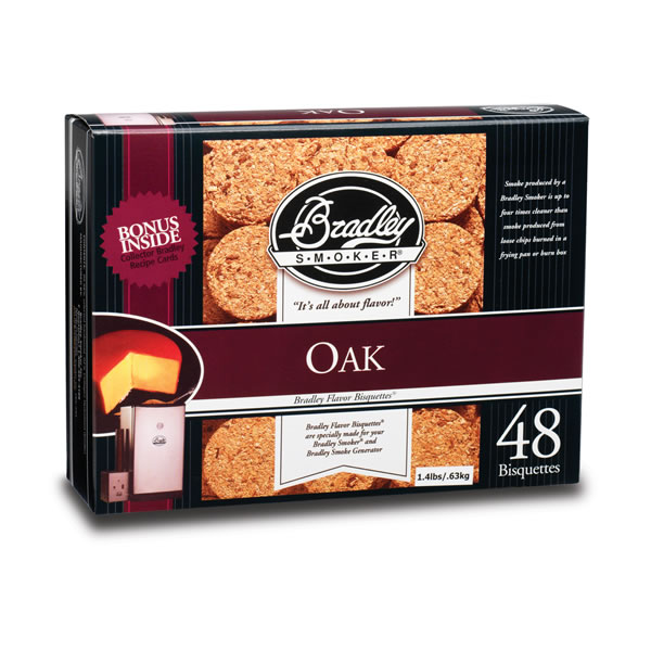 Bradley Oak Smoking Bisquettes 48