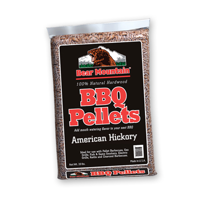 Bear Mountain Hickory BBQ Pellets 20 lbs