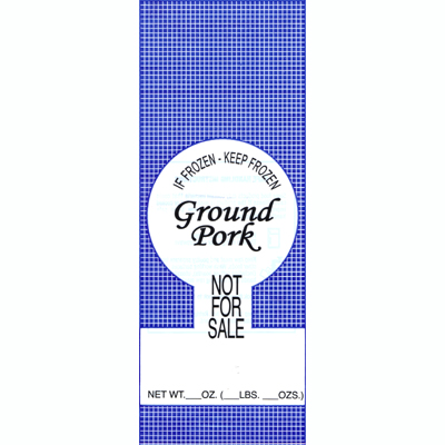 Meat Bags 1# Ground Pork NFS - 25pk