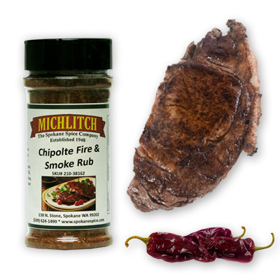 Dry Rub-Chipotle Fire & Smoke BBQ  6 oz