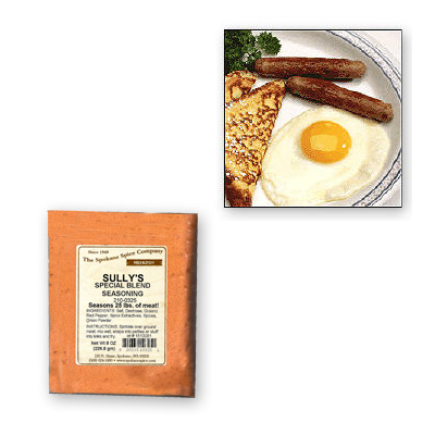 BREAKFAST SAUSAGE SEASONING-Sully's Special Blend For 25 Lbs