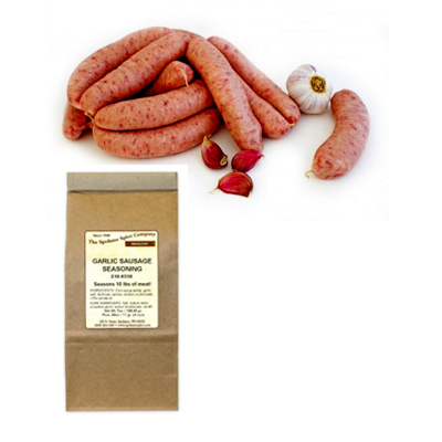 GARLIC SAUSAGE SEASONING, NO MSG, For 10 Lbs