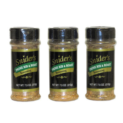 Snider's Prime Rib & Roast Seasoning 3-Pk 7.5oz Shaker (ONLINE ONLY)