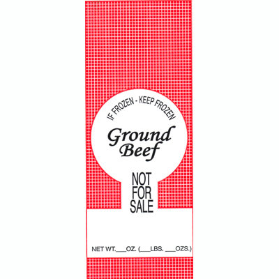 Meat Bags 1# Ground Beef NFS - 25pk